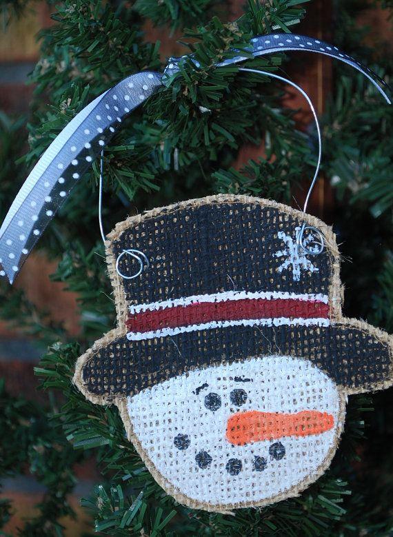 Snowman burlap hand painted christmas ornament christmas ornament snowman burlap hand painted christmas ornament solutioingenieria Gallery