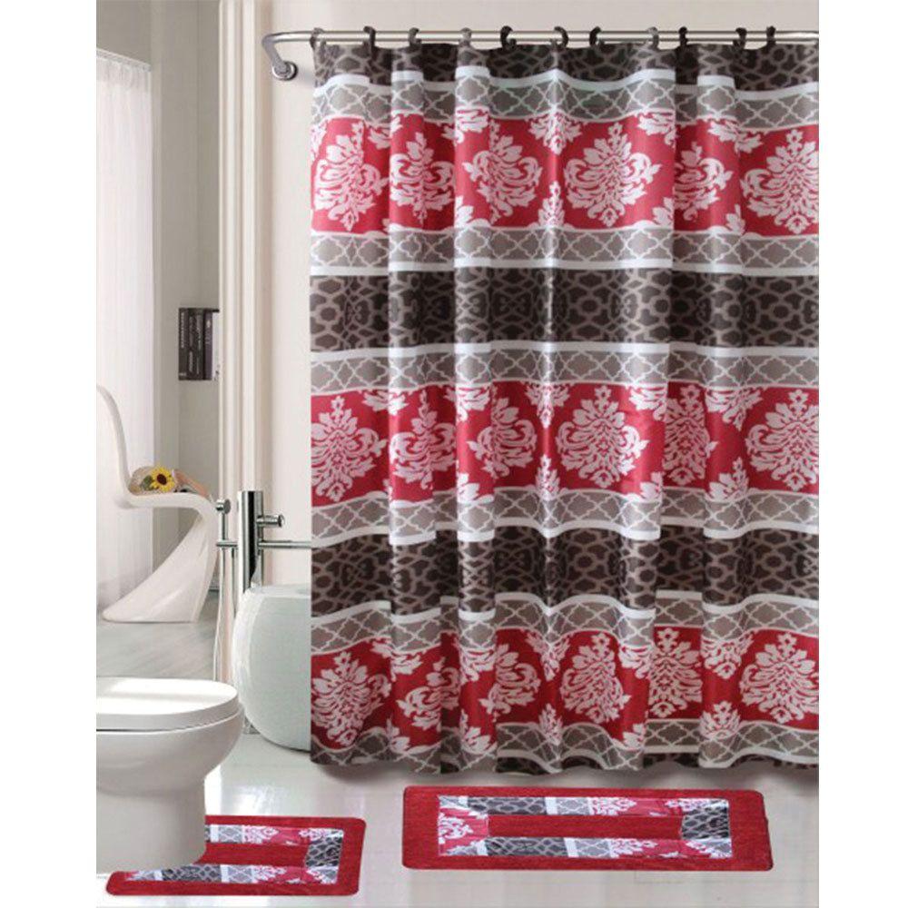 Cortlandt Collection 15 Pc Bathroom Accessories Set, Bath Mat ...