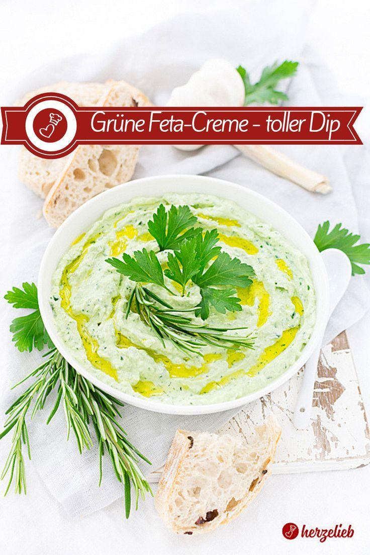 Photo of Feta-Creme – Rezept für den selbstgemachten grünen Dip!