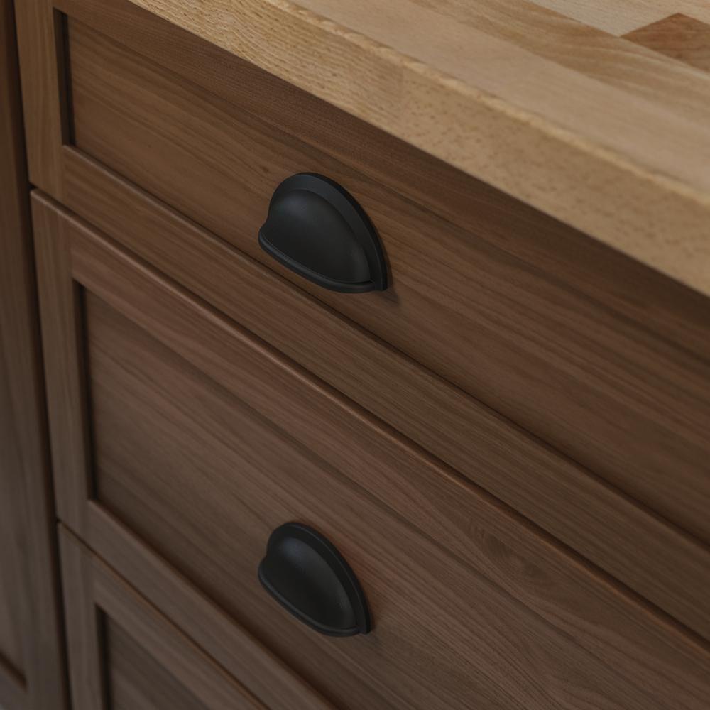 10 pack matte flat black cabinet hardware modern farmhouse kitchen bath cup pull door in 2020 on farmhouse kitchen hardware id=40797