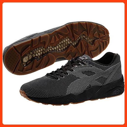 Puma Mens R698 Knit Mesh V2 Shoes, Black, Size 8 (*Partner