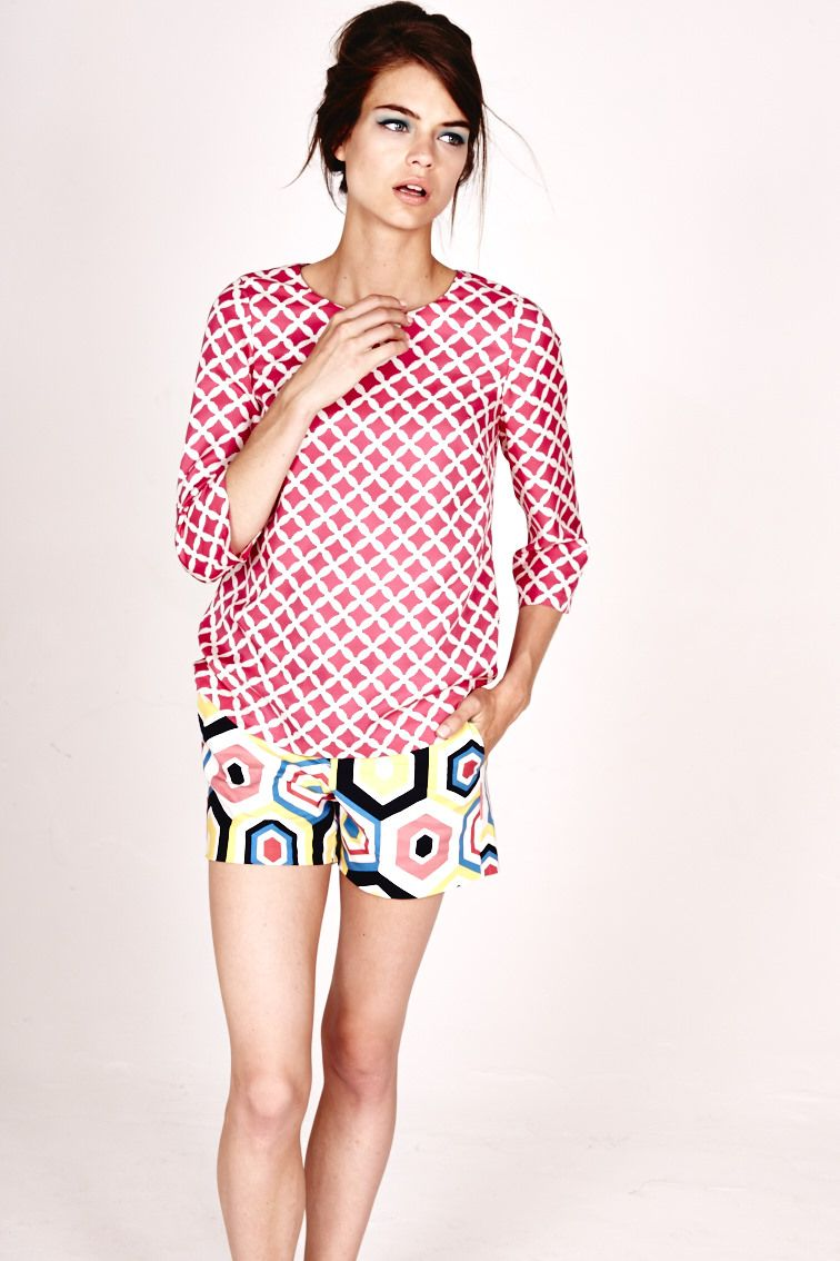 Love the top - not the shorts Boden Bistro Shorts, Vienne Points ...