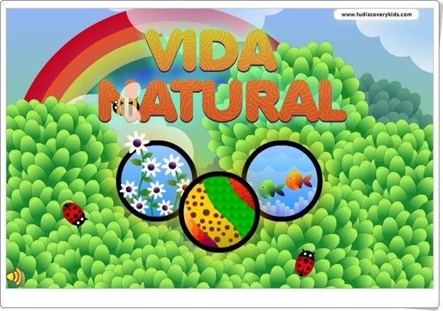 """""""Vida natural"""", de discoverykids, es un sencillo juego en el que se cuida la naturaleza: regar las plantas y limpiar el fondo del mar de residuos para que los peces naden tranquilos y felices."""