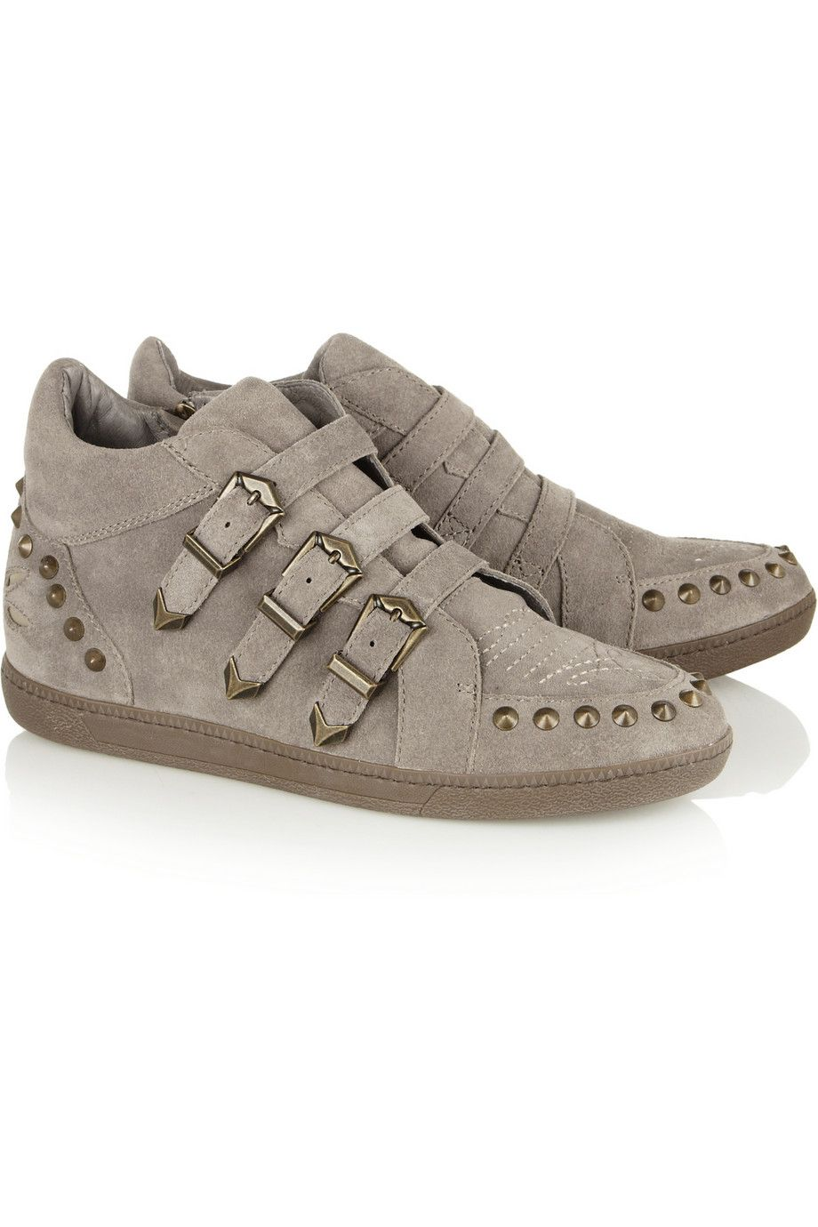 ASHZoo studded suede sneakers