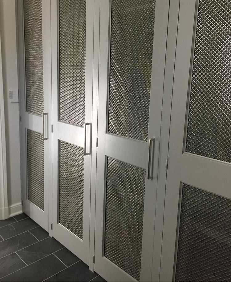 Chicken Wire Kitchen Cabinet Doors: Mesh Grille Closet Doors Inset