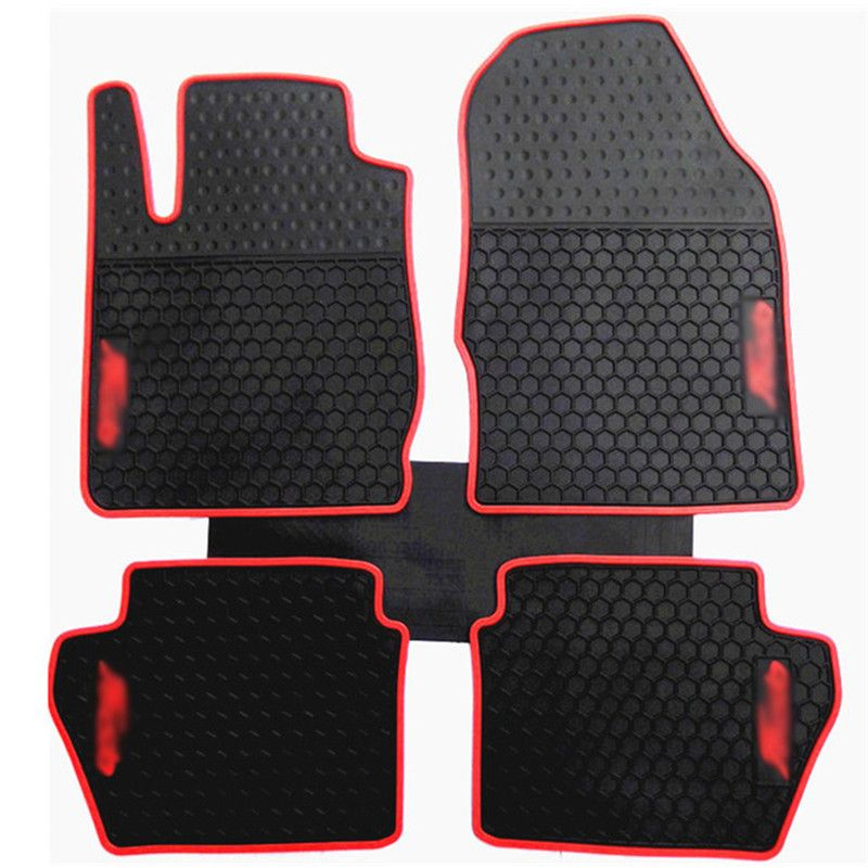 New Genuine Dedicated Front Rear Floor Slip Resistant Rubber Mats For Ford Fiesta Interior Accessories Rubber Mat Ford Fiesta