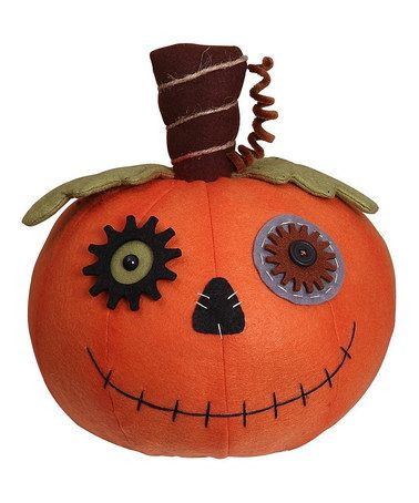 Another great find on #zulily! Large Patchwork Halloween Pumpkin Figurine #zulilyfinds