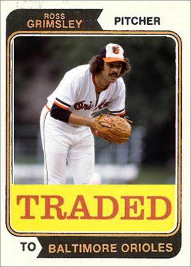 Ross Grimsley Baltimore Orioles My Custom Baseball Cards