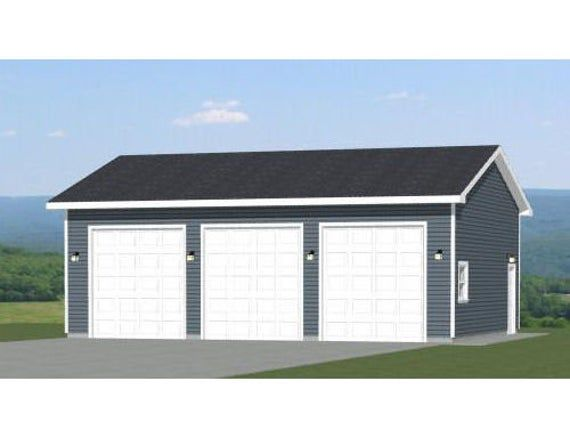 56x48 2 Rv Garage Duplex 2649 Sq Ft Pdf Floor Plan Etsy In 2020 Garage Design Garage Plans Garage Plans With Loft