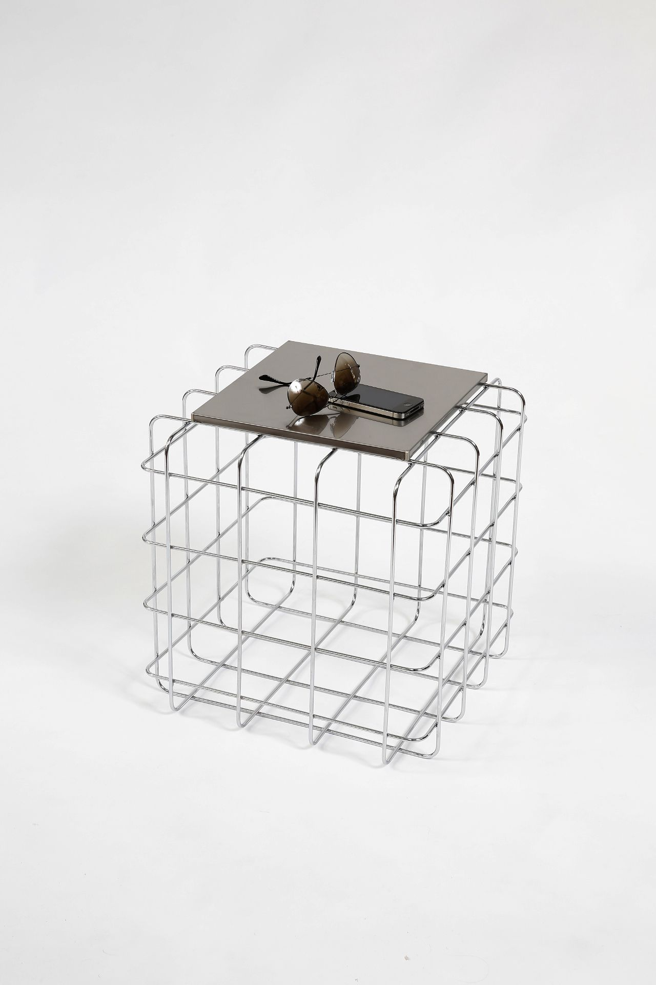 ronda design wire coffeetable steel furniture mobel