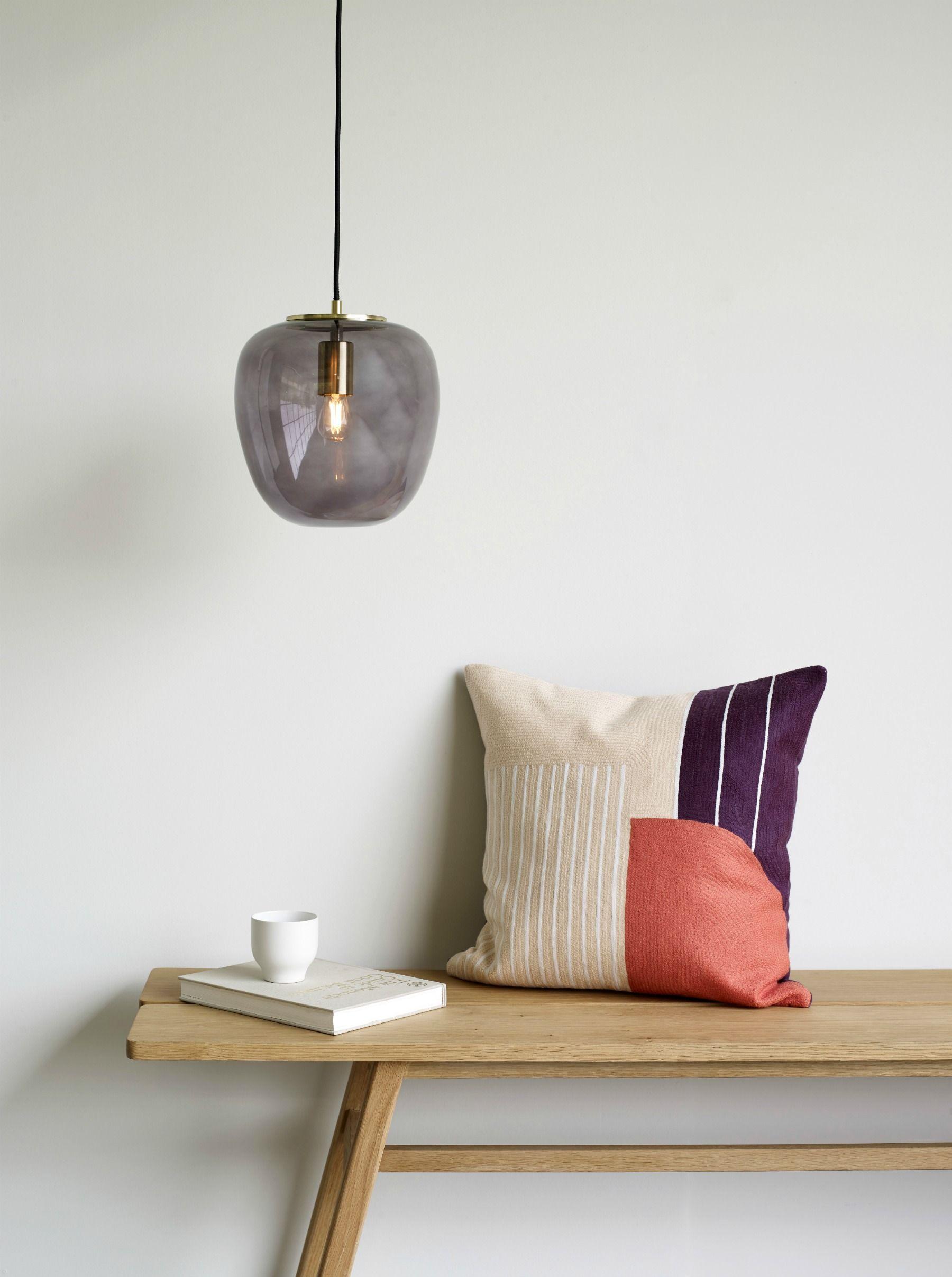 HÜBSCH Deckenlampe Messing Rauchglas (mit Bildern