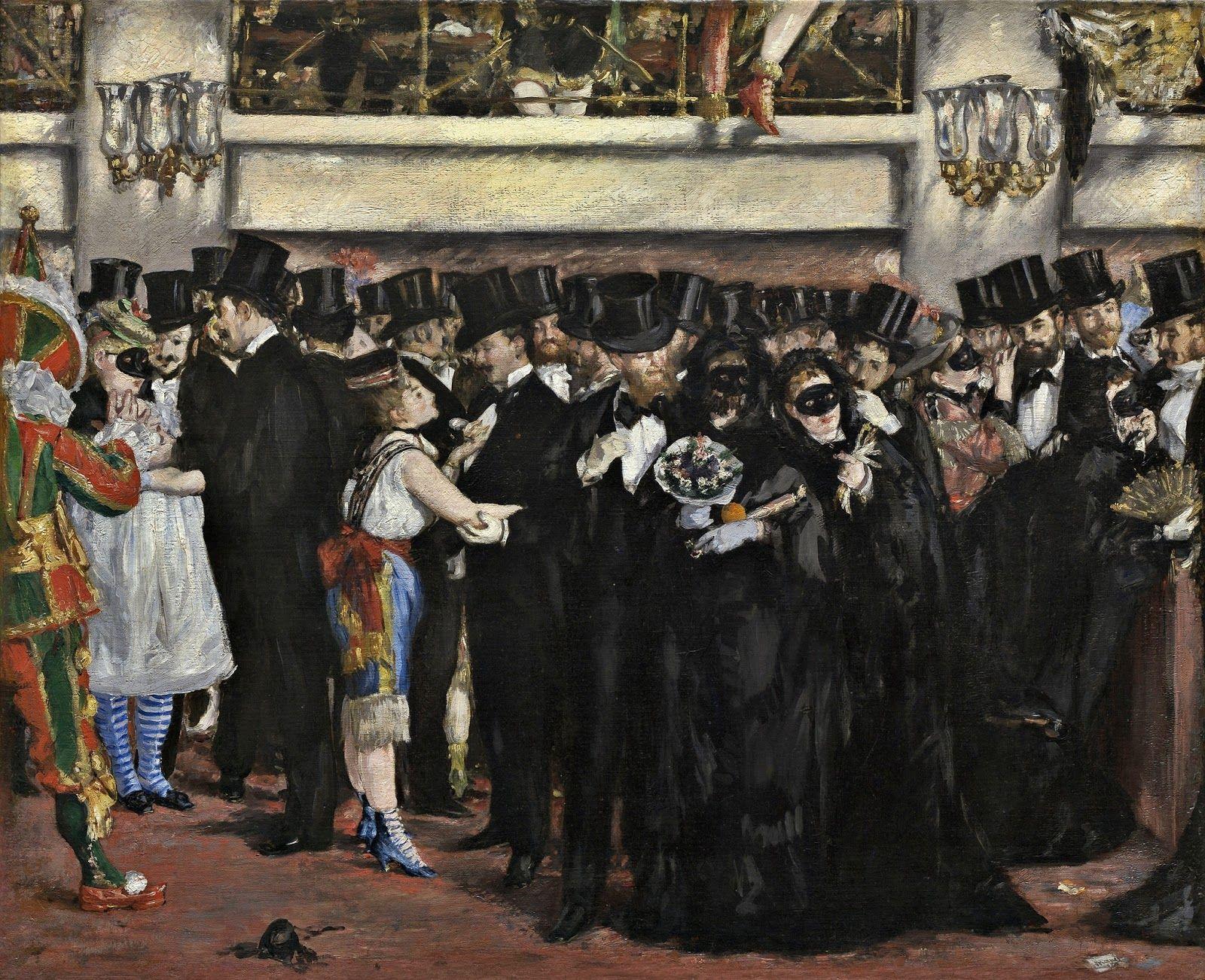 Edouard Manet - Masked Ball Opera 1873 Style