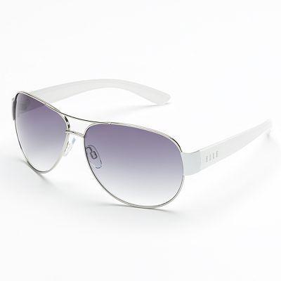 befa214a6a ELLE White Aviator Sunglasses ✺ꂢႷ ძꏁƧ➃Ḋã̰Ⴤʂ✺
