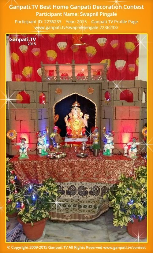 Beautiful Swapnil Pingale Home Ganpati Picture 2015. View More Pictures And Videos Of Ganpati  Decoration At