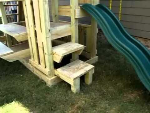 A Walk Through Video Of One Of Our Wonderful Custom Built Wood Playsets.  This Set Was Custom Designed To Fit Into A Really Small Yard And Yet Still  Have ...