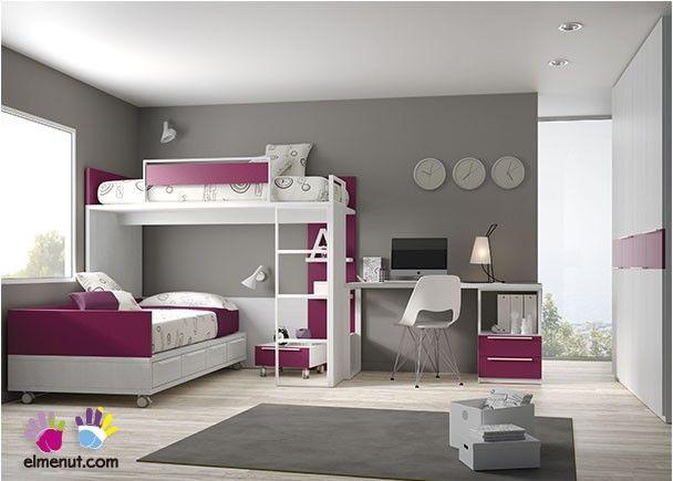 Dormitorio Infantil Con Litera Bloc Armario Recto · Habitaciones  FemeninasHabitaciones InfantilesCamas Dobles ...