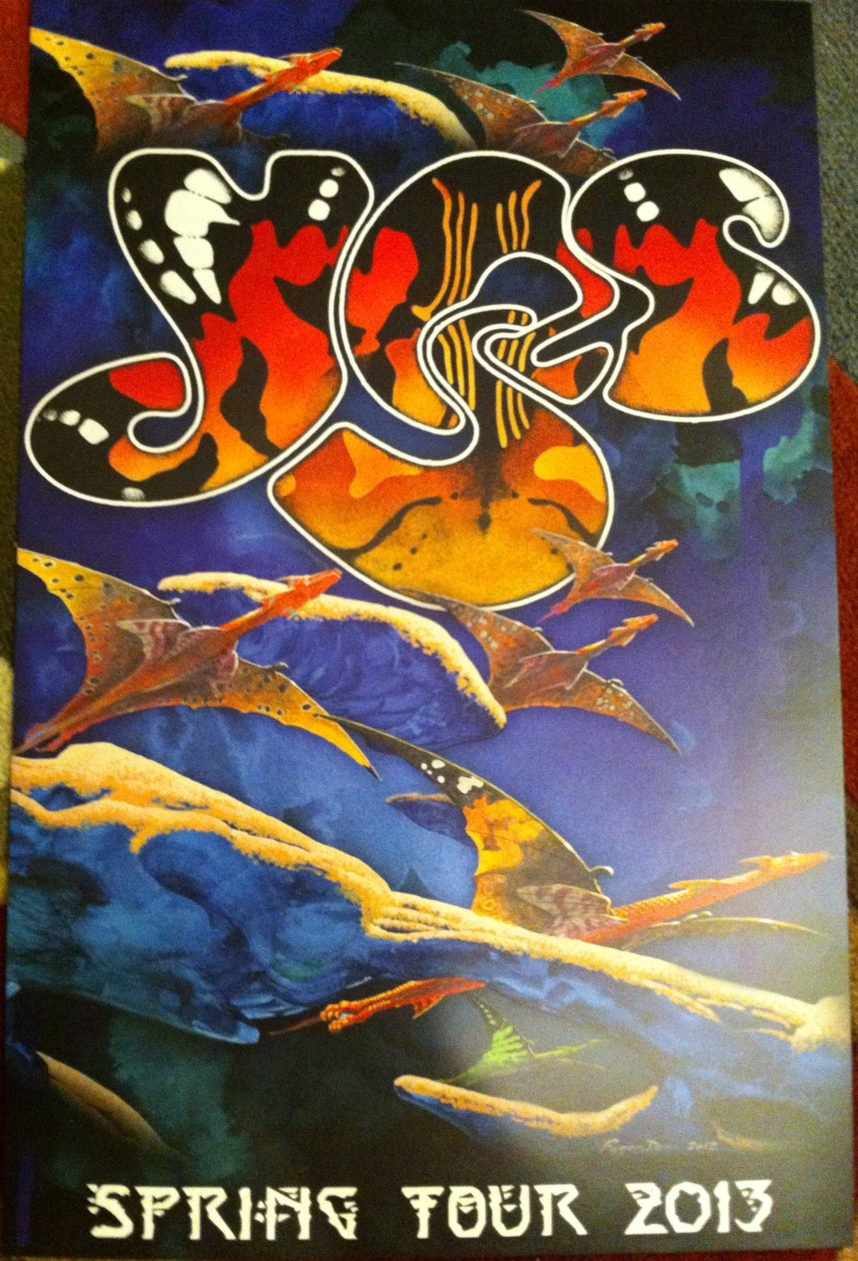 Yes Spring Tour 2013 Rock Poster Art Album Cover Art Vintage