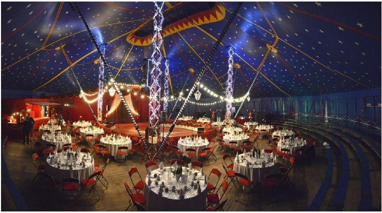 Location de chapiteau de cirque pour mariage