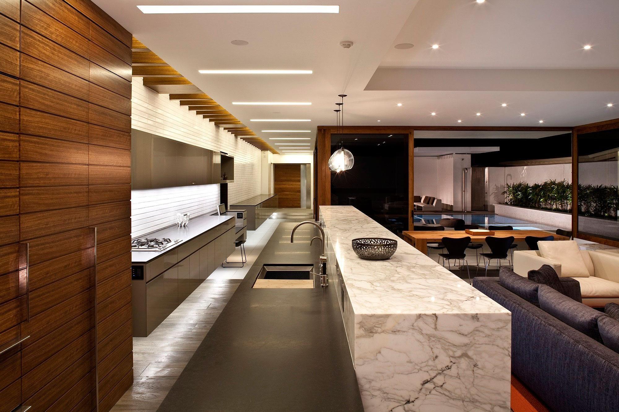 Lujosa arquitectura moderna con elegante dise o de for Casa minimalista harborview hills