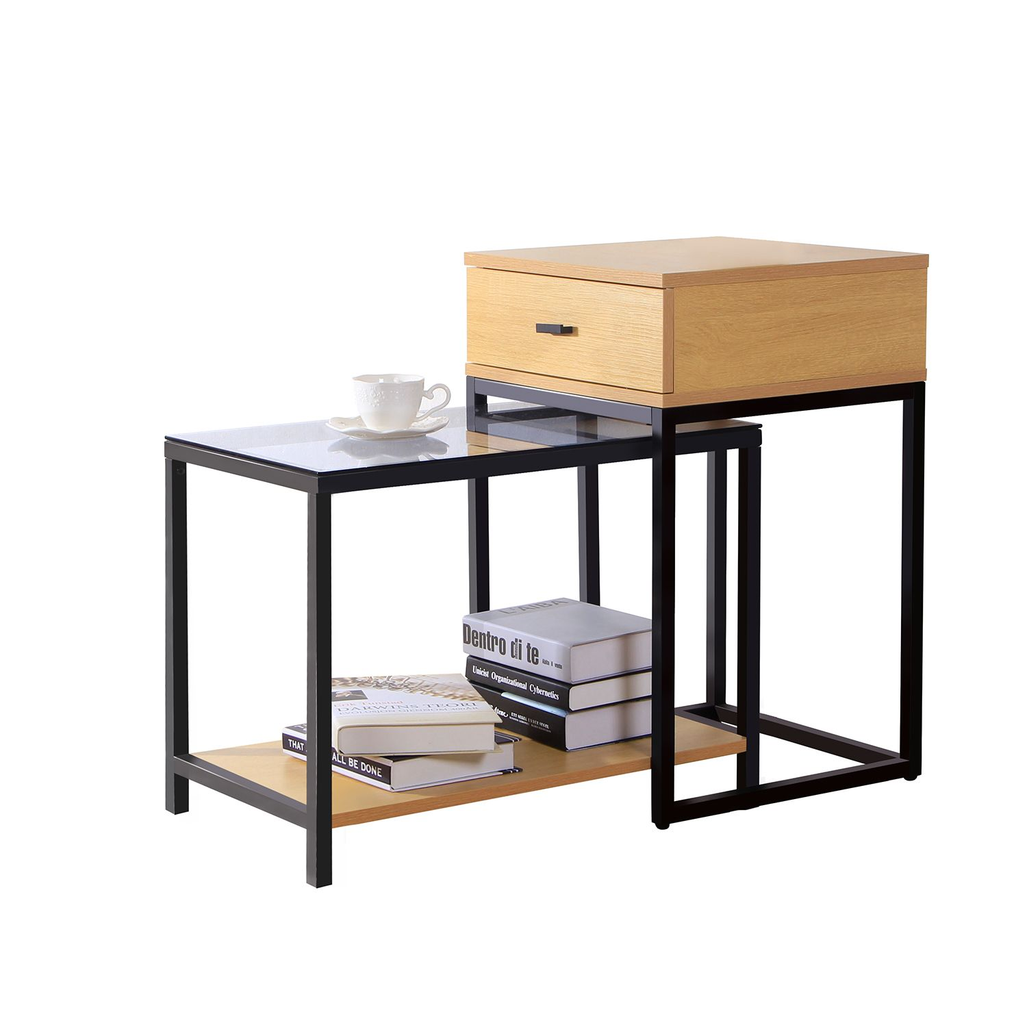 Best Lifewit 2 Piece Nesting Side Accent Table Set Combination 400 x 300