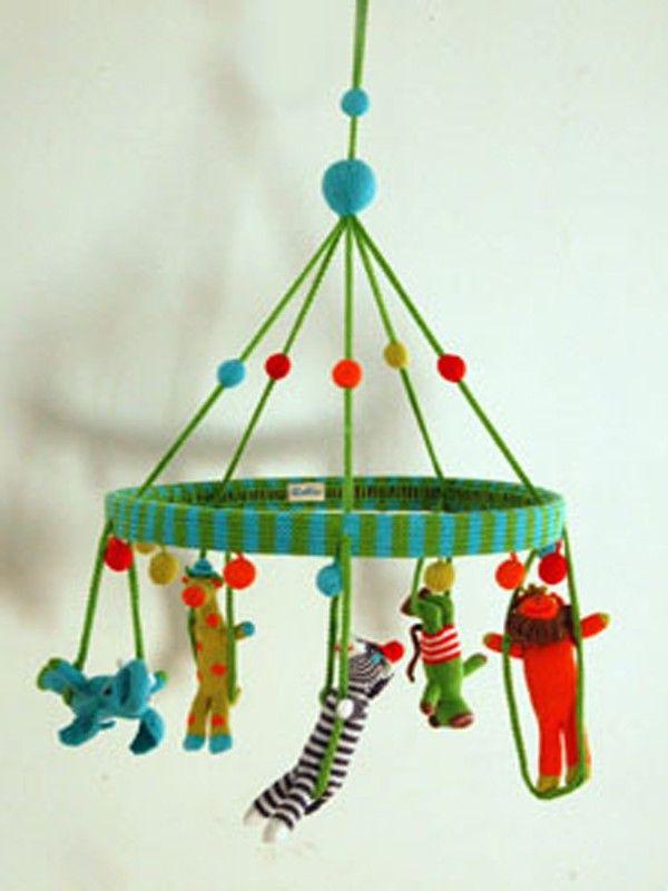 Blabla Kids Knit Jungle Mobile Crochet Baby Mobiles