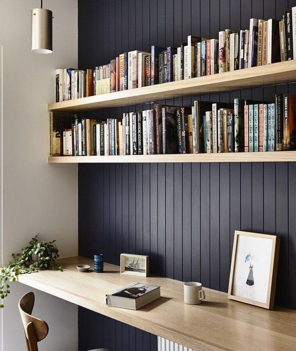 Cozy Workspace Bedroom Design And Decor Ideas 28 Shelf Decor