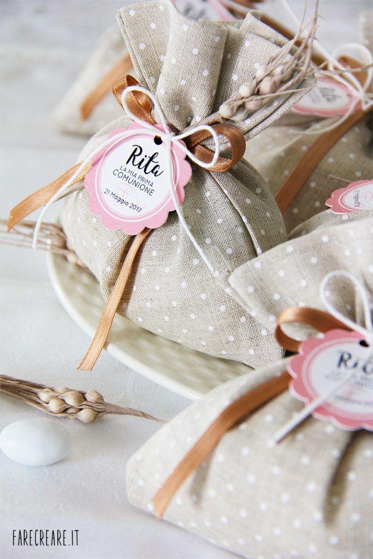 Sacchetto Portaconfetti Per Matrimonio O Prima Comunione Bomboniere Bomboniera Prima Comunione