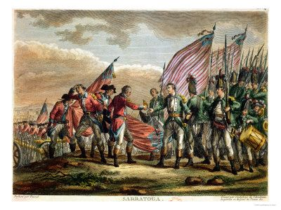 The Surrender of General John Burgoyne at the Battle of Saratoga ...