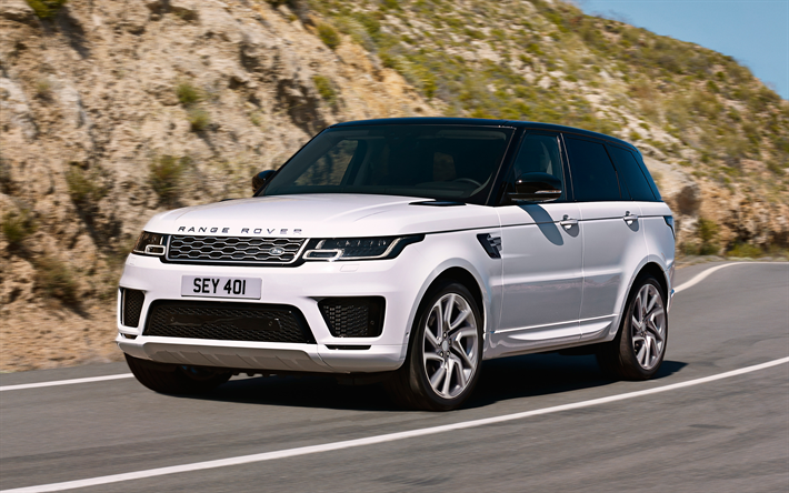 Download Wallpapers Land Rover Range Rover Sport Phev 2018 Plug