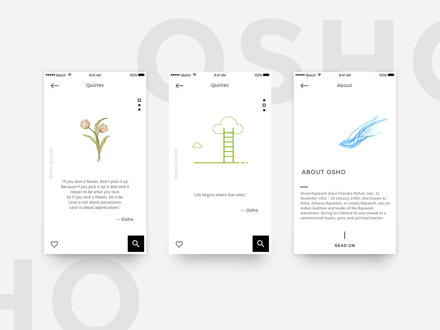 Quotes Minimalist Design on Behance
