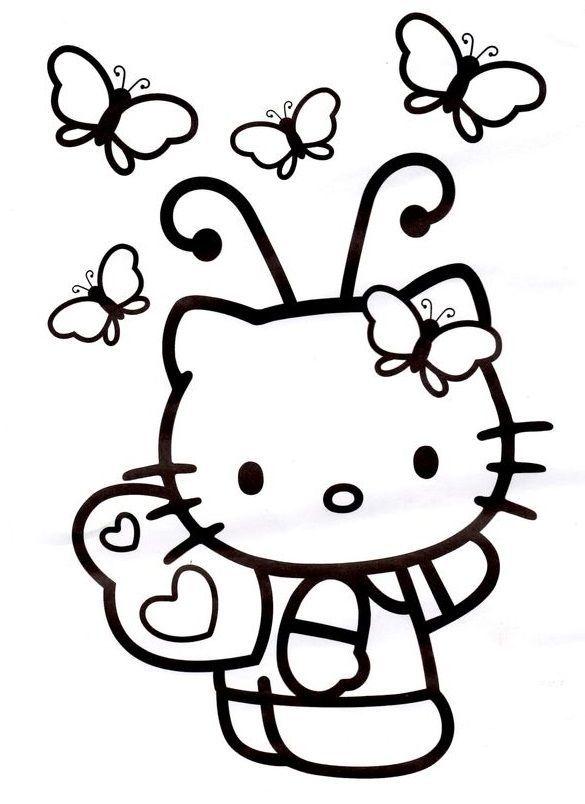 ป กพ นโดย Luciana Melo ใน Hello Kitty สม ดระบายส สต กเกอร การเย บป ก