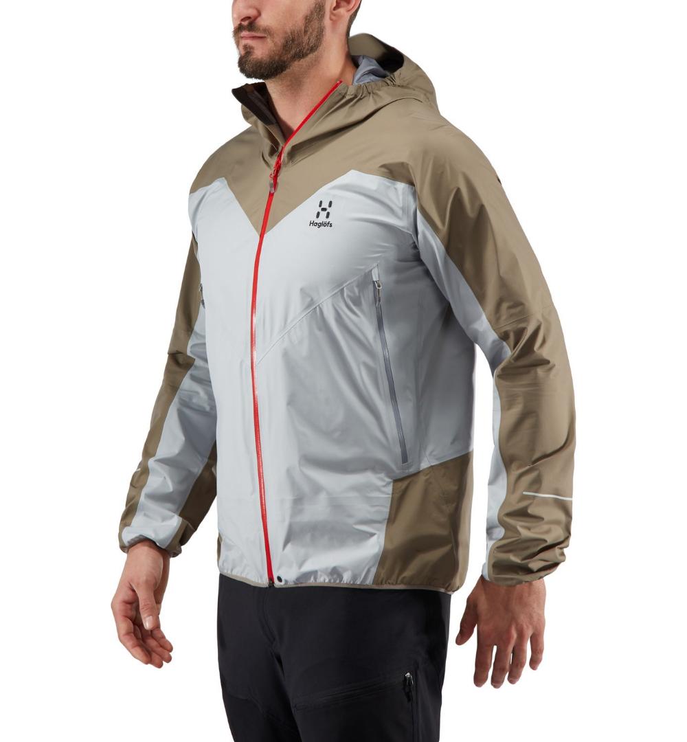 L I M Comp Jacket Men Men Stone Grey Dune Men S Jackets Vests Haglofs Mens Outdoor Jackets Outdoor Outfit Gray Jacket