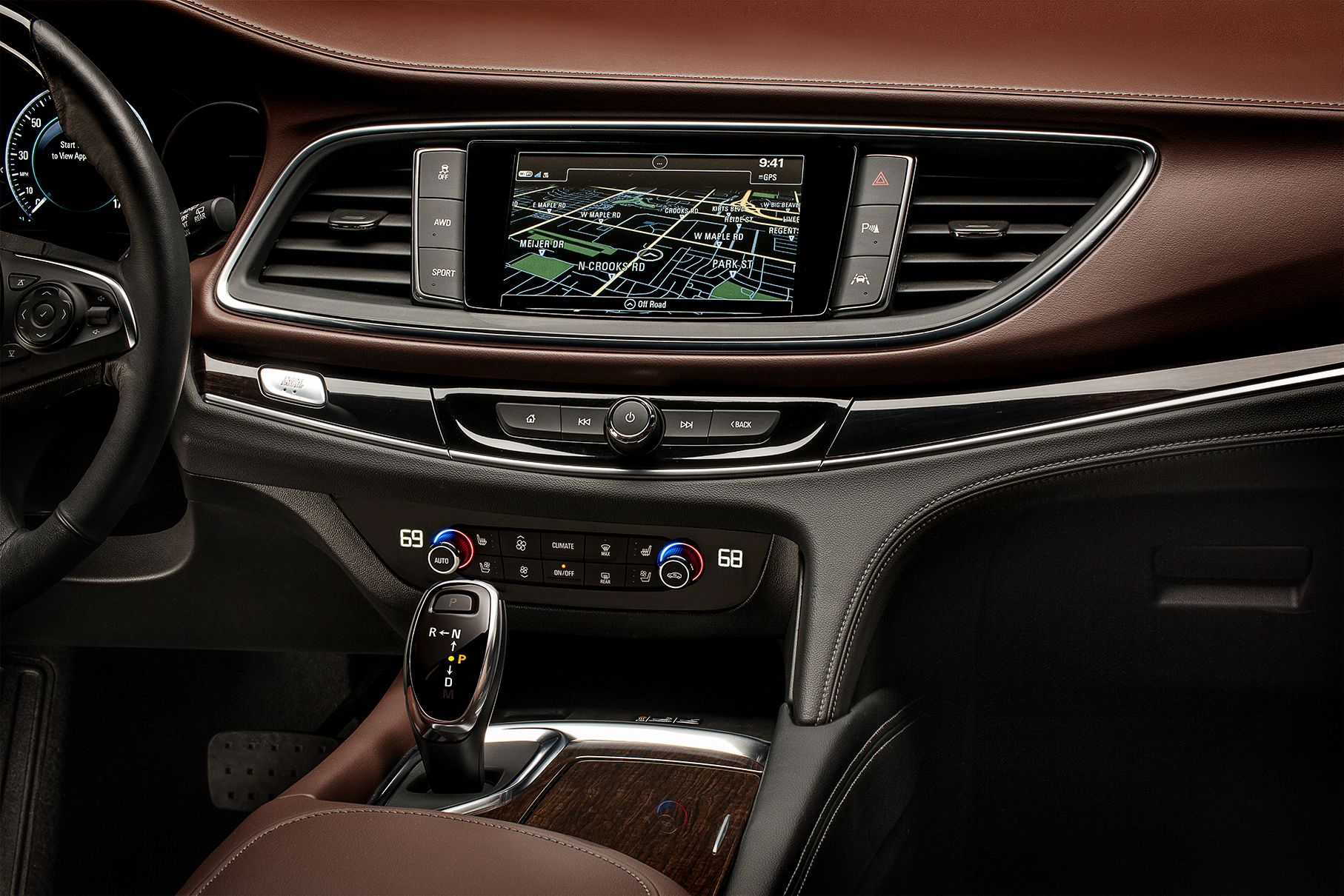 2018 buick enclave avenir center stack featuring touch screen