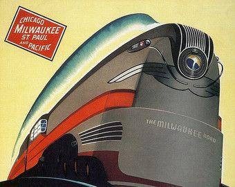 Chicago Northwestern 400 CNW Zug Art Poster von RobsVintageImages