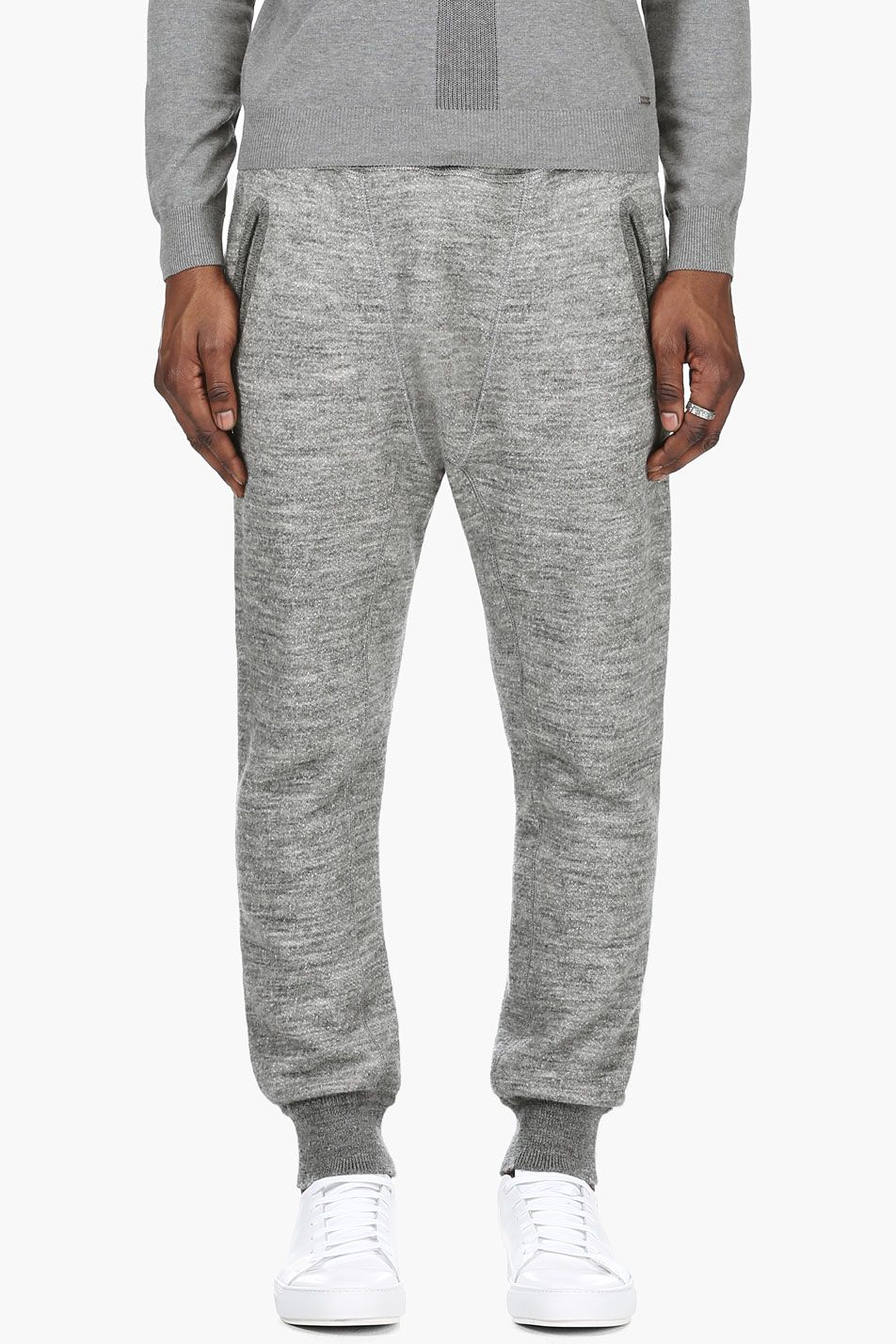 6fc3a3763f89b DSQUARED2 Grey Drop Crotch Lounge Pants | trousers | Pants, Drop ...
