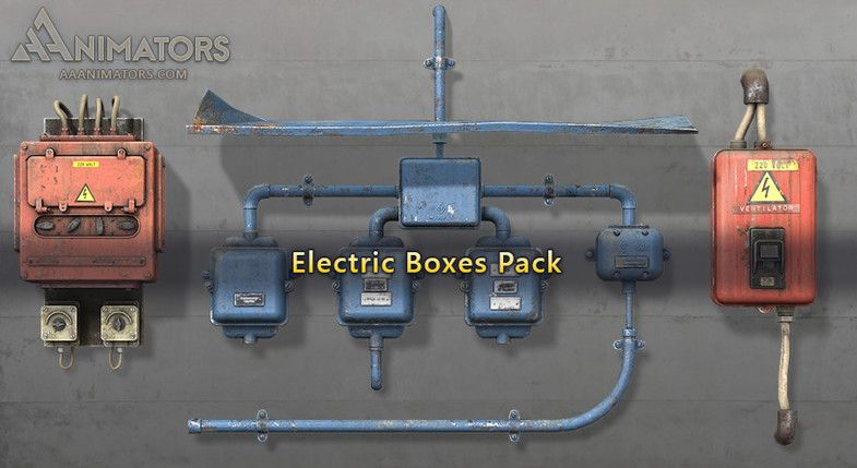 Low Poly Electricity Box Packs #Sponsored #, #affiliate, #Box#Electricity#Poly#Industrial