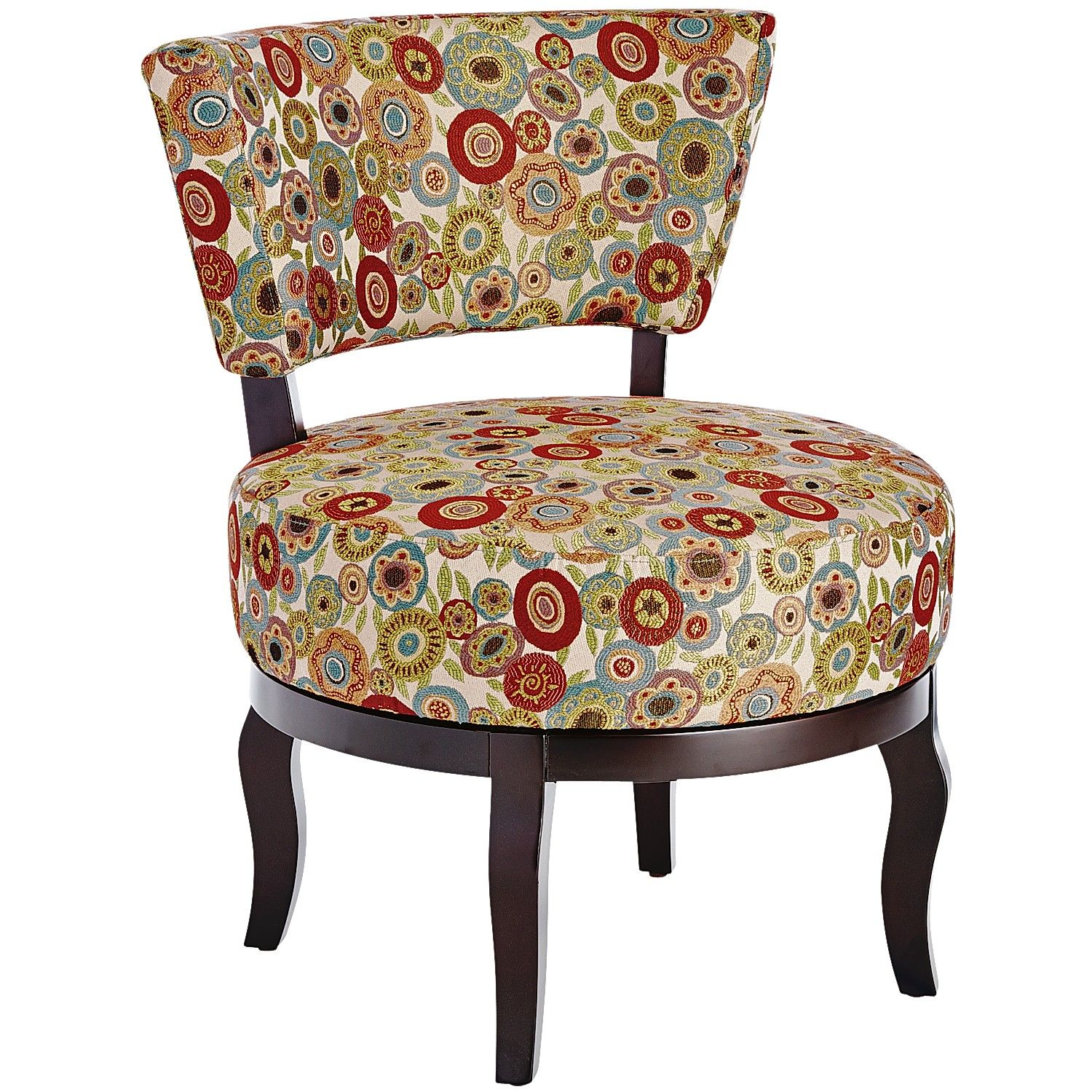 Multi Colored Accent Chairs Multi Colored Sabine Swivel Chair Fresh Flowers Berry