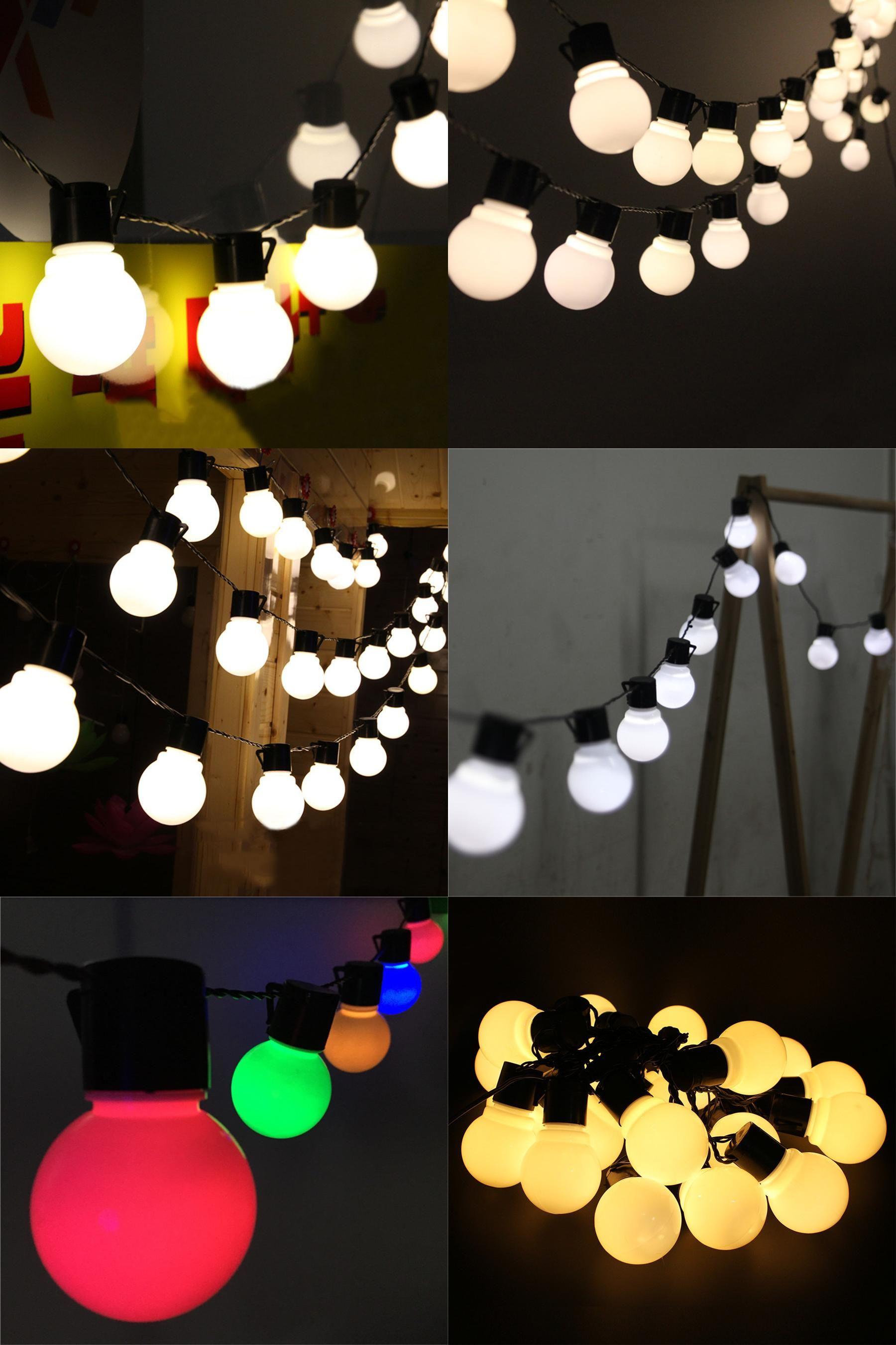 Visit to Buy] Thrisdar 5CM Outdoor Globe Ball Led String Lights 5M