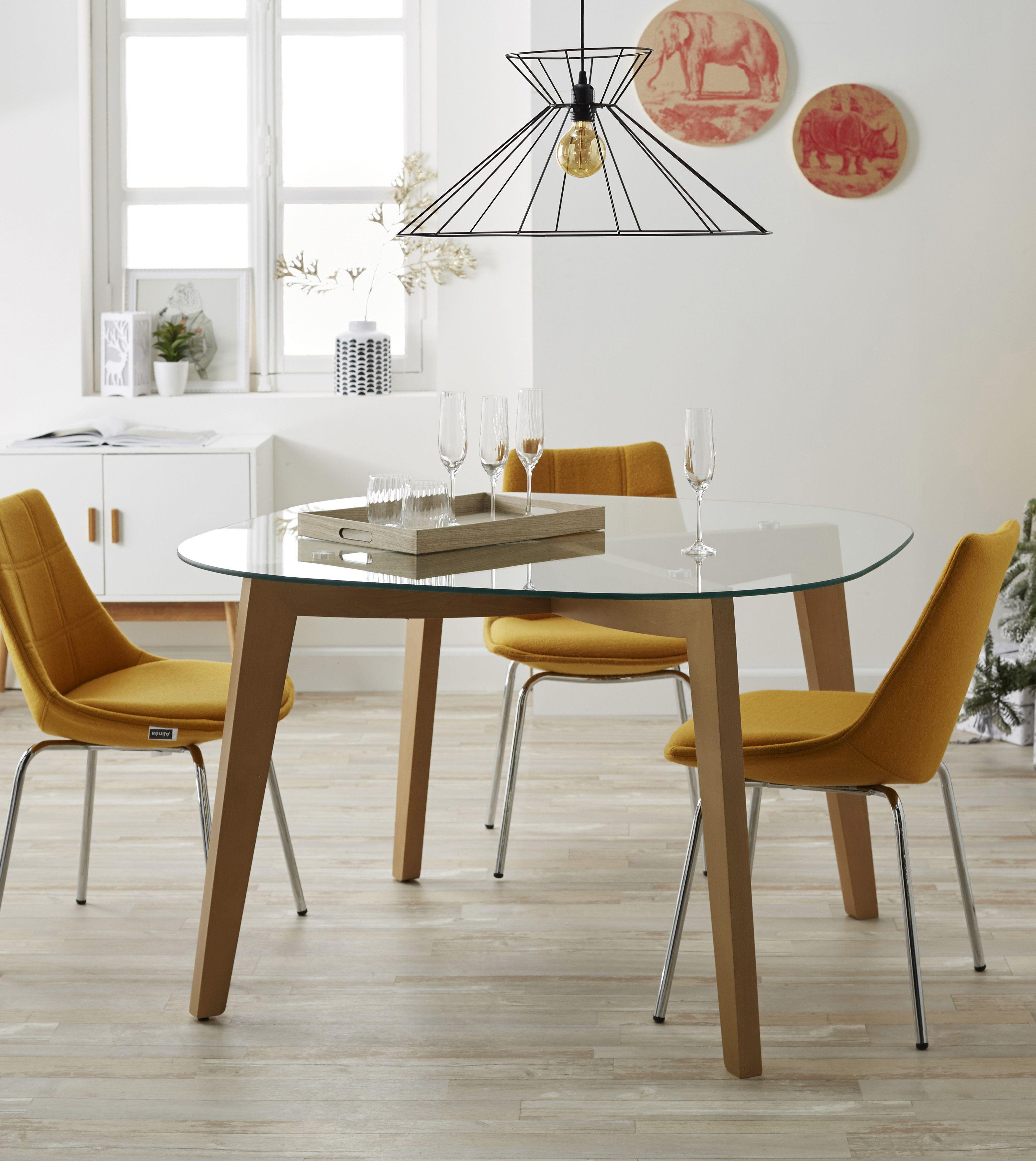Zepplin Table Ronde En Verre Decoration Deco Maison