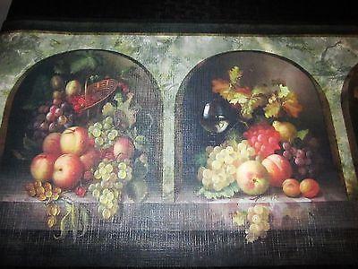 Wine Bottles Basket Of Grapes Wallpaper Border Gs96004b 11 99 Grape Wallpaper Wine Bottle Baskets Wallpaper Border
