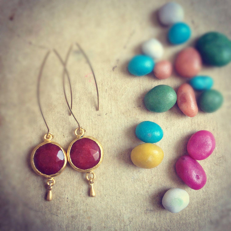 dangle dot earrings