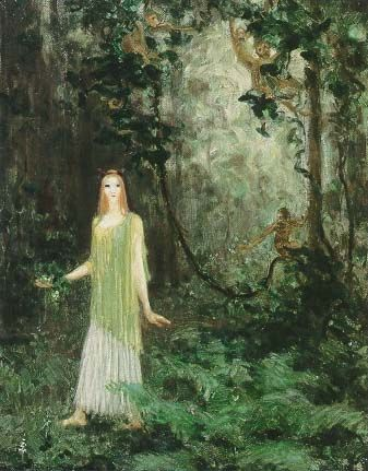 Agnes Pelton American, born Germany, 1881-1961. Vine Wood, c. 1910