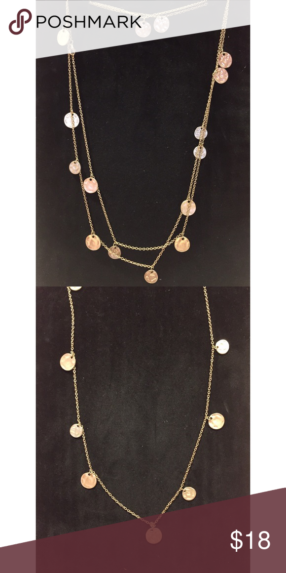 Gold necklace with circular gold charms With its great length you could wrap this necklace around twice and it's a great everyday statement piece. Jewelry Necklaces