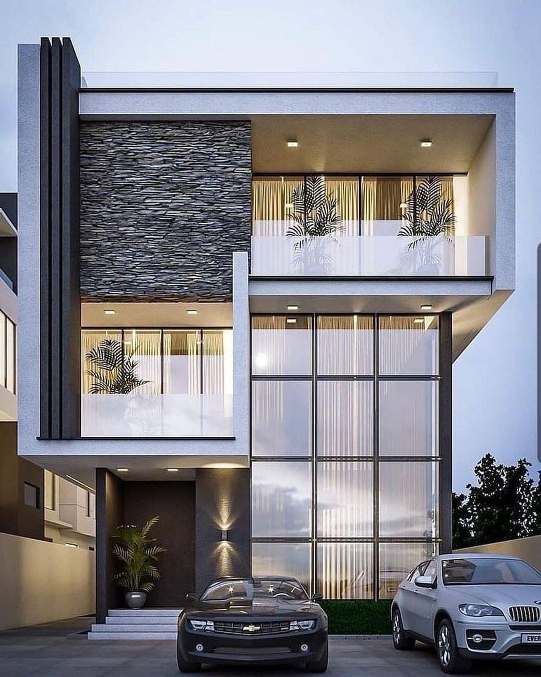 Amazing Exterior Modern House Design Ideas That Will Make Your Abode Cozier Modern Exterior House Designs House Exterior Small House Elevation