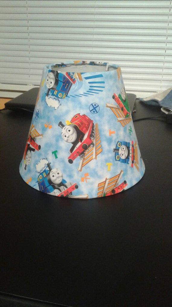 Hey i found this really awesome etsy listing at httpsetsy lamp shade for thomas the train fans the shade fits over the socket aloadofball Gallery