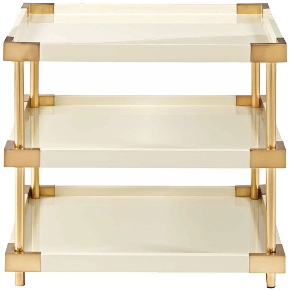 Bernhardt Interiors Brielle 3 Shelves End Table 340 124