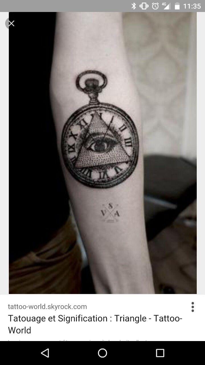 Triangle Horloge Tattoo Projet Manchette