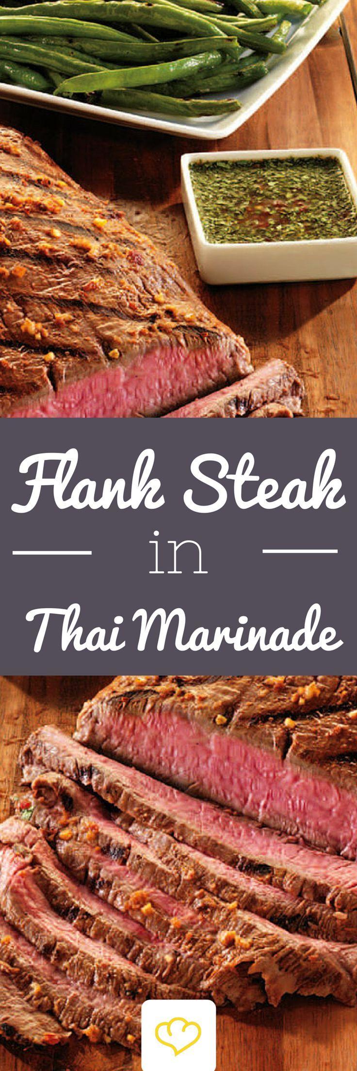 flank steak in thai marinade rezept favorite grillen. Black Bedroom Furniture Sets. Home Design Ideas