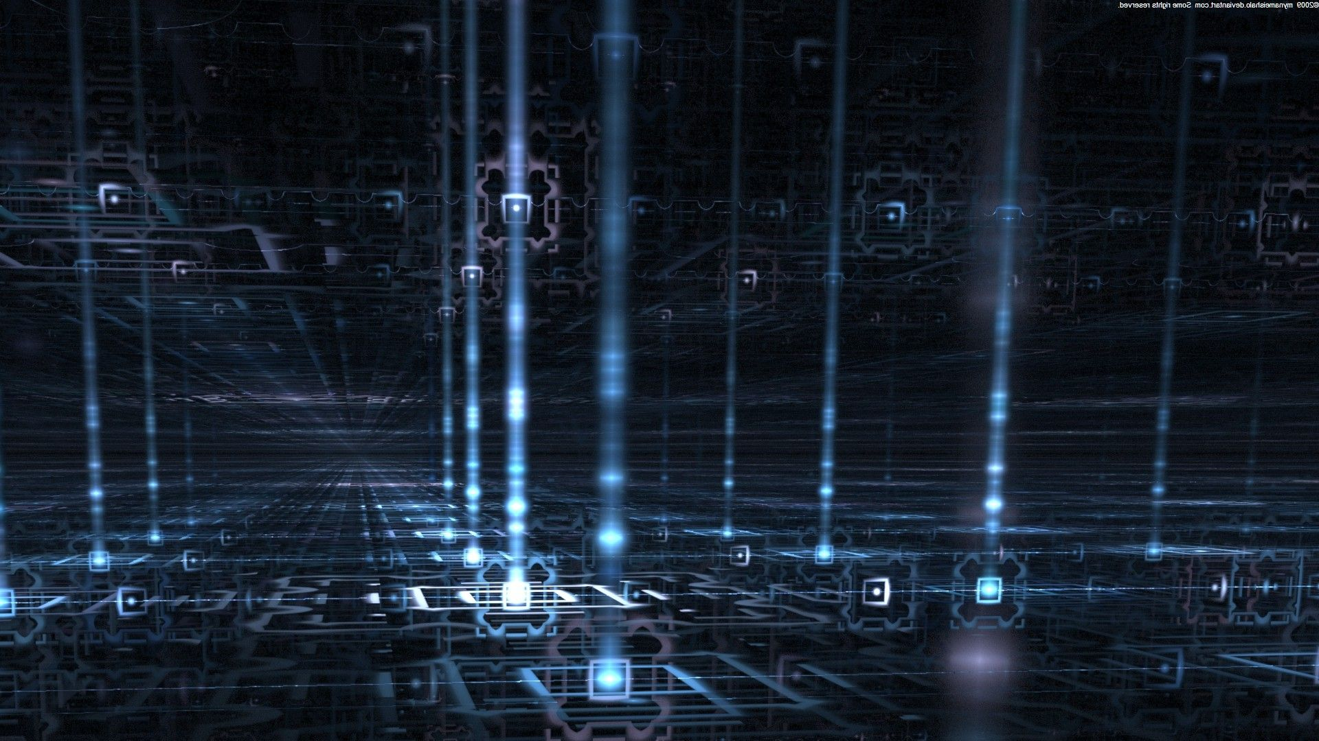 Navigating The Data Stream By Mynameishalo Free Abstract Wallpaper