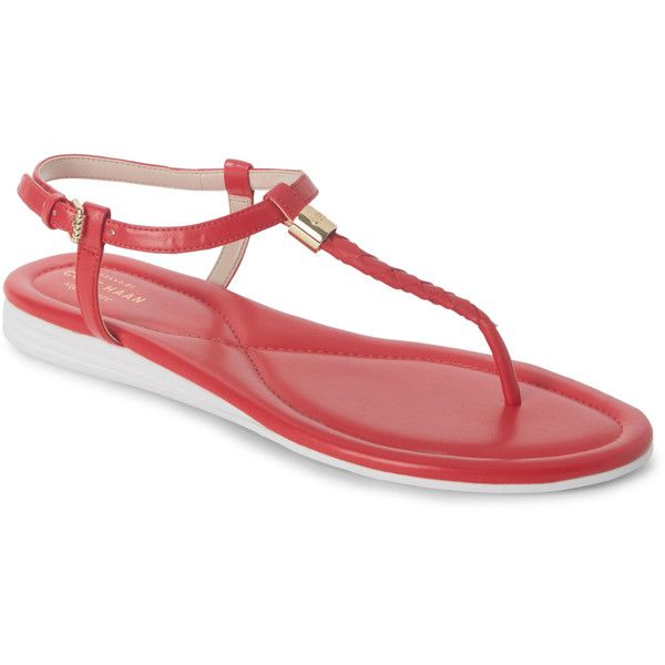 6ffb7152e3ab Cole Haan Goji Berry Original Grand Braid Thong Sandals ( 70) ❤ liked on  Polyvore